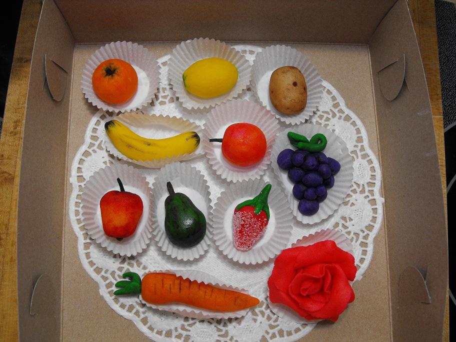 Marzipan Vegetables Cake