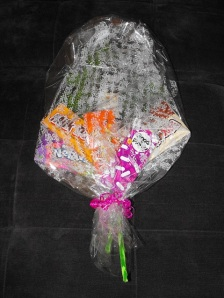 The wrapped bouquet! :D