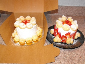 Grace's cake on the left ready to be delivered.. and Brent's and mine on the right. :)