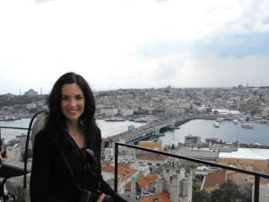 That's me checking out Istanbul!