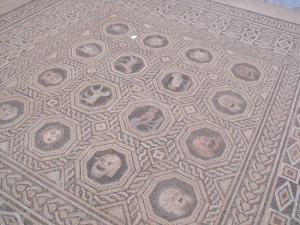 Preserved ancient mosaics from centuries ago.
