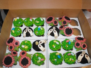 A box full of Easter Cupcakes!