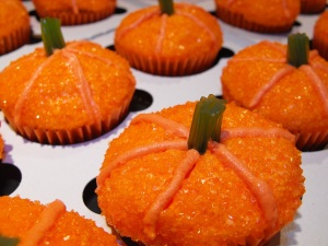 A close up of the yummy mini pumpkins.