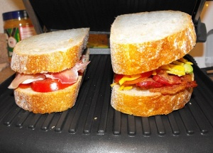Our Gourmet Sandwich Adventures.... ready to be grilled. :)