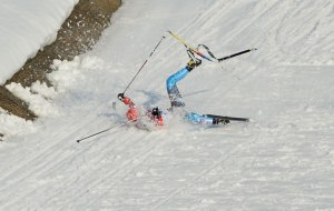 Gafarov fell with a broken ski in the semifinal