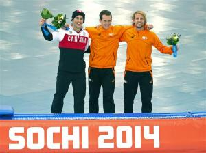 Men's 1000m Speed Skating Champions in Sochi!