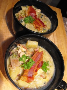 Yummy Chicken & Potato Soup with Bacon! :)