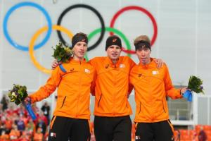 Yeah, that's right.. The Netherlands just did a sweep of the medals in the Men's 5000m.. Yeah Baby!! :D