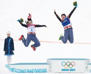 Happiness in Womens' Skicross for Canada! :)