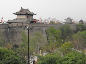 Xian - City walls.