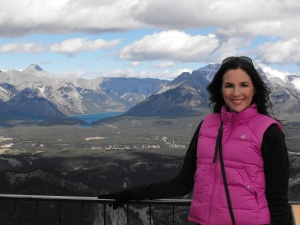 On top of a mountain in Banff.. amongst the Canadian Rockies.. Beautiful!