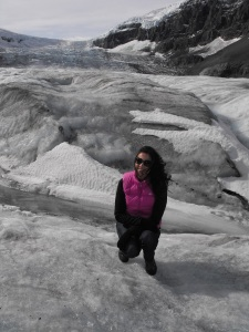 On a glacier - Columbia Icefields.